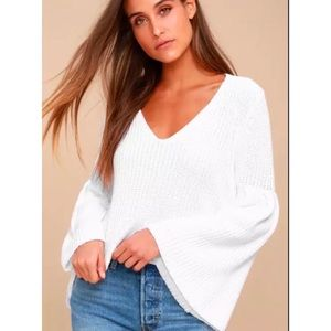Free People Bell Sleeve Pullover Sweater L Damsel